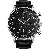 TSS Men's Quartz Chronograph Watch Leather Band T5010N1
