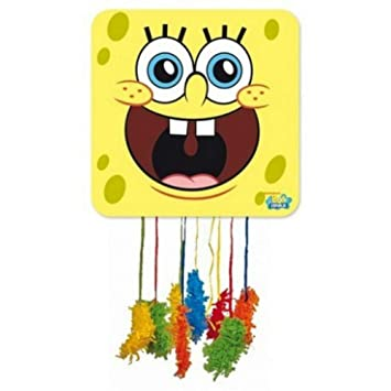 CAPRILO. Piñata Infantile Decorativa para Cumpleaños Bob Esponja 46x46 cm. Juguetes y Regalos Fiestas de Cumpleaños, Bodas, Bautizos y Comuniones.