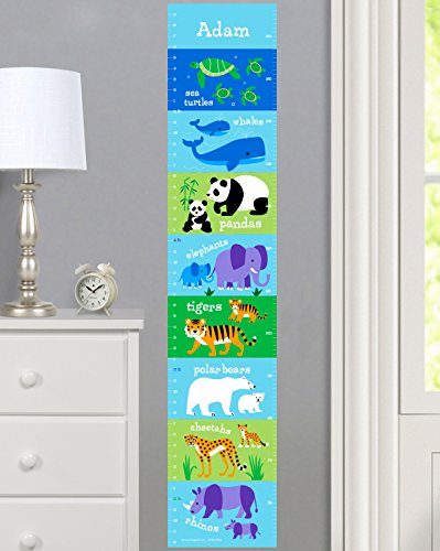 Olive Kids Personalized Endangered Animals Wall Decal Growth Chart by Olive Kids