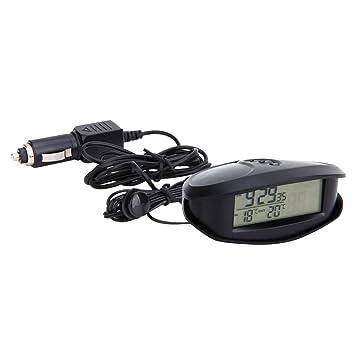 Sharplace 12-24V LED Reloj Digital Multifuncional, Termómetro Voltímetro Digital de Coche: Amazon.es: Coche y moto