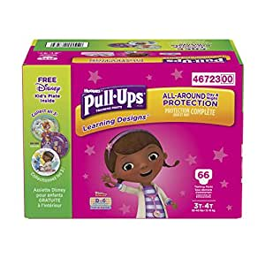 Pull-Ups Learning Designs Training Pants for Girls, 3T-4T, 66 Count