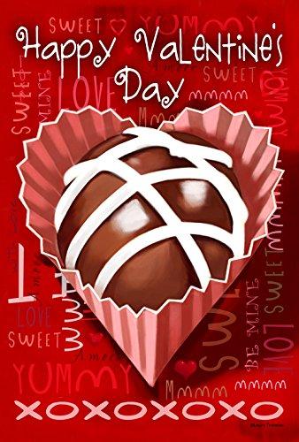 (Toland Home Garden True Love Truffle 12.5 x 18 Inch Decorative Happy Valentine Day Candy Garden Flag)