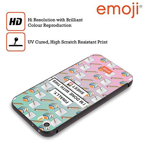 Officiel Emoji Feuille Graduation Noir Étui Coque Aluminium Bumper Slider pour Apple iPhone 5 / 5s / SE