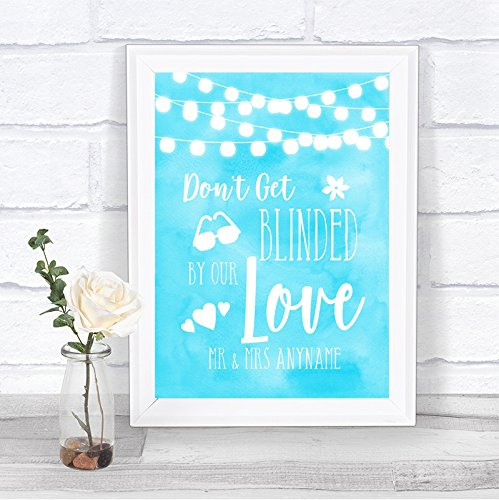 Aqua Sky Blue Watercolour Lights Don't Be Blinded Sunglasses Wedding - Sunglasses In Do Sizes Come