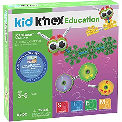K'NEX Kid I Can count! Ages 3 5 Preschool Education Toy Building Sets (45 Piece) ( Exclusive): Toys & Games