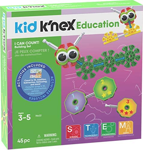 K'NEX Kid I Can count! Ages 3 5 Preschool Education Toy Building Sets (45 Piece) (Amazon Exclusive)