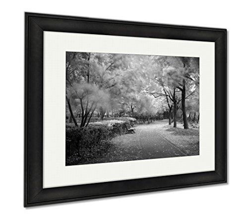 Ashley Framed Prints Green City Park Shanghai China, Office/Home/Kitchen Decor, Black/White, 30x35 (frame size), Black Frame, AG5898334