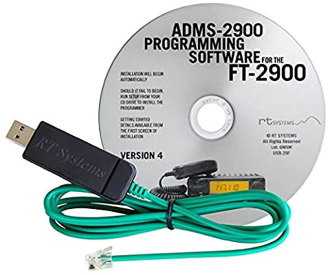 RT Systems Original ADMS-2900 USB Programming Software (Version 5.0) with USB-29F USB to 6-pin Modular (Programming Software)