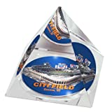 """MLB New York Mets Citi Field  in 2"""" Crystal Pyramid with Colored Windowed Gift Box"""