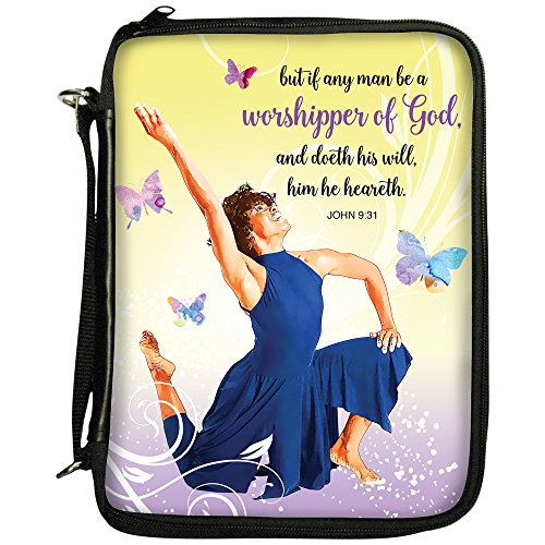 Bible African Covers (African American Expressions - Worshipper of God/Praise Dancer Book/Bible Organizer (7.5