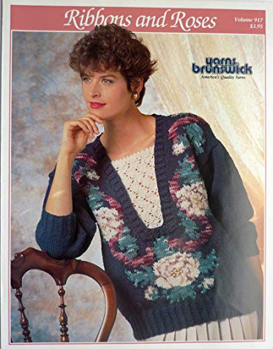 - Ribbons and Roses Women's Pullover Sweater Pattern Book - Brunswick - Vol. 917