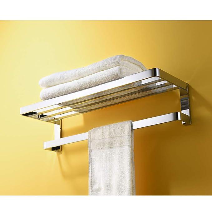 Estante Doble De Cobre Toallero De Toalla Toallero De Baño Rack De Baño Accesorios De Hardware Estilo Europeo Simple Y Duradero: Amazon.es: Hogar