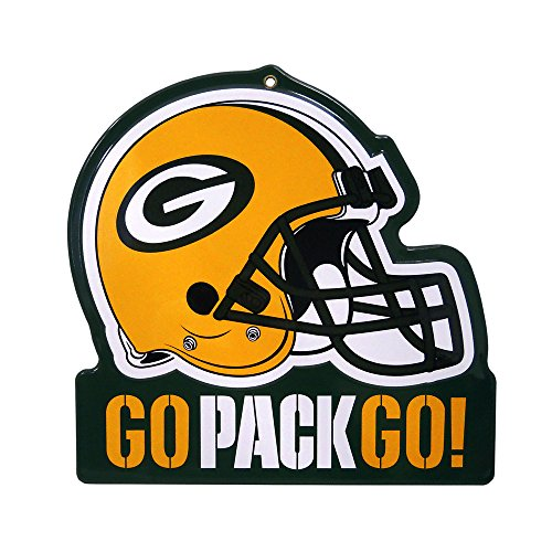 - Party Animal Green Bay Packers Embossed Metal NFL Helmet Sign, 8