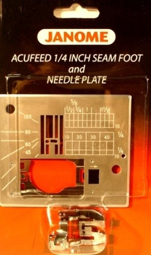 Janome Acufeed 1/4 inch Seam Foot and Needle Plate ()
