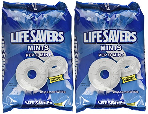 Life Savers, Pep-O-Mint Hard Candy, 41oz Bag, 2PACK