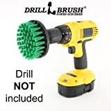 Drill Powered Spinning Detailing Nylon Scrub Brush with Quarter Inch Quick Change Shaft