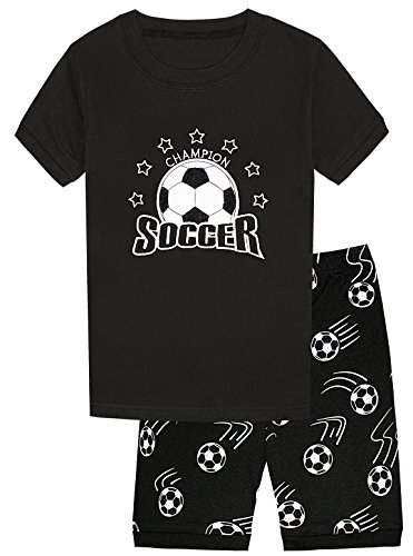 Ball Short Pajamas - Dolphin&Fish Little Boys Short Pajamas Soccer Kids Pjs Toddler Clothes Children Sleepwear Size 6