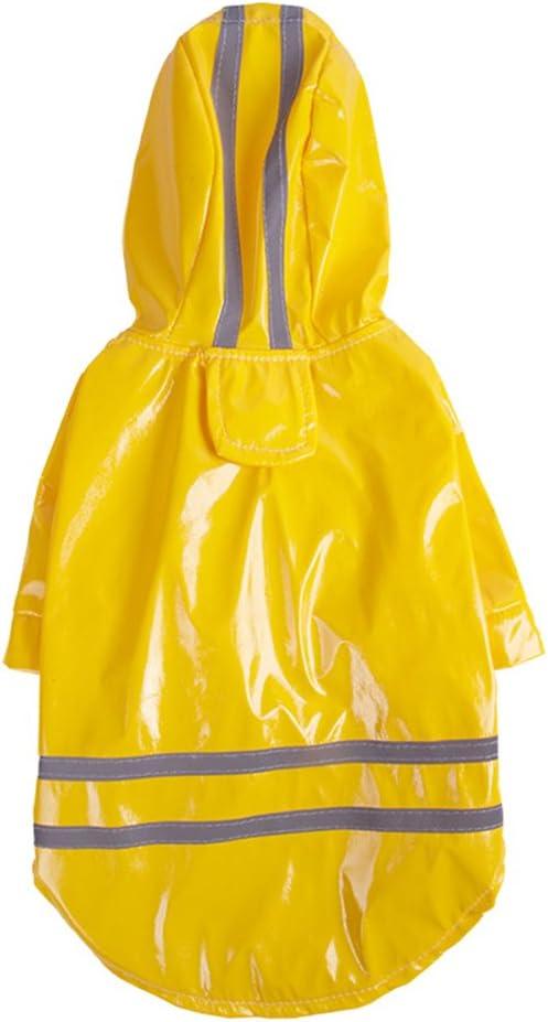 UEETEK - Abrigo impermeable para perro, reflectante, de seguridad, amarillo