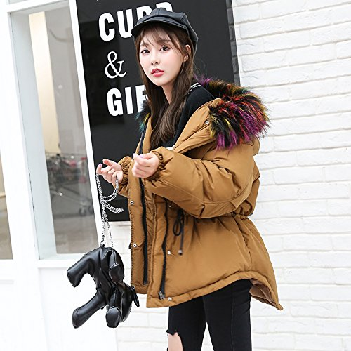 Jacket Short Paragraph Coat Feather Winter Female Collar Cotton Xuanku Collar Cotton Cotton coffee Coat Coats Cute wv4HWq