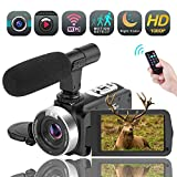 Video Camera Camcorder, Vlogging Camera Full HD 1080P 30FPS 16X...