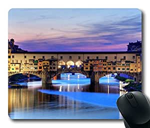 Oblong Shaped Mouse Pad for Custom Design - Ponte Vecchio Florence