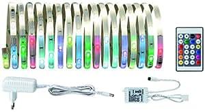 Paulmann 70697 - Tira de luces LED (digital, RGBW, 4,8 metros, 18,8 vatios, con función de cambio de color)