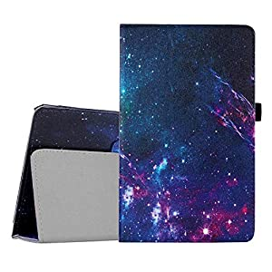 BENTOBEN Case for Fire HD 8 (2018/2017/2016 Release, 8th/7th/6th Generation) Space Nebula Slim Folio Folding Kickstand Smart Cover with Stylus Holder & Auto Wake/Sleep for Amazon Fire HD 8, Purple