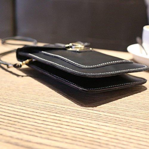 Shoulder Meliya Black Bag Body Cellphone 2002 Wallet Purse Leather Cross Mini Bag Casual PU Womens rn4qgwrCxv