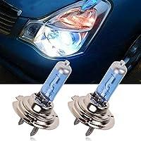 Ecosin Fashion 2pc H7 6000K Xenon Gas Halogen Headlight White Light Lamp Bulbs 100W 12V