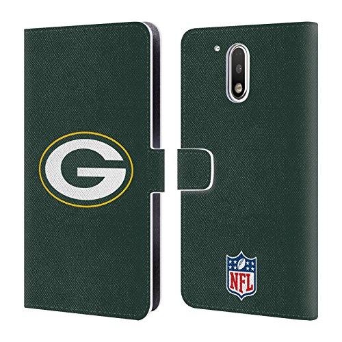Price comparison product image Official NFL Plain Green Bay Packers Logo Leather Book Wallet Case Cover For Motorola Moto G4 / G4 Plus