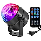 Led Sound Activated Party Lights Disco Ball DJ Strobe Club Lamp 7 Modes Magic Mini Led Stage Lights for Christmas Home Room Dance Parties Birthday