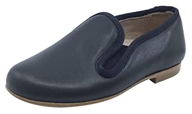 40b6ad3d1eb Hoo Shoes Boy s and Girl s Smoking Loafer (Dark Charcoal Leather