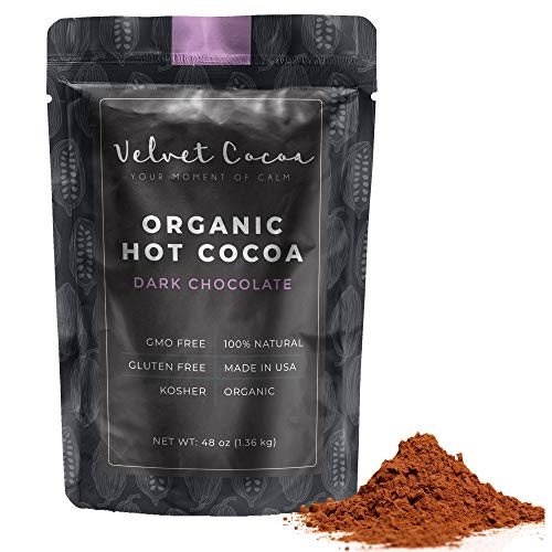 (Hot Chocolate Mix Gourmet Powder | Premium Hot Cocoa 3lb Bulk Value Pack. Dark Chocolate Flavor. Delicious Taste, Organic Gluten-Free Natural Ingredients Kosher No Trans-Fat Vegan. Top Quality Coco)