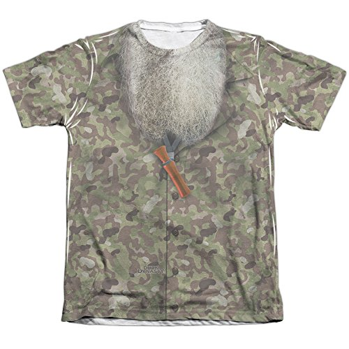 Duck Dynasty Camo Costume Unisex Adult Front Only Poly/Cotton Sublimated T Shirt for Men and Women