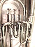 Euphonium Silver Chrome Polish 3 Valve euphonium