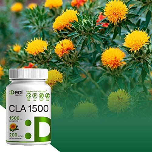 Deal Supplement CLA 1500mg Per Serving, 200 Softgels, Super Extra Strength 95% Conjugated Linoleic Acid from Safflower Oil, Manage Weight and Lean Muscle 5