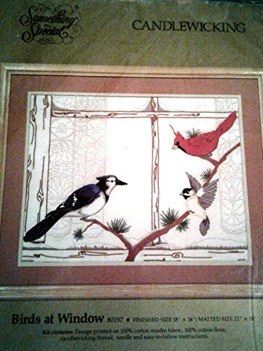 Birds at Window Candlewicking Embroidery Kit by Something Special Vintage ()
