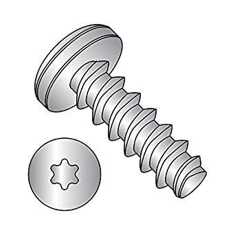 Pack of 100 Star Drive Zinc Plated Pan Head #2-28 Thread Size 1//2 Length Steel Thread Rolling Screw for Plastic