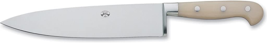 "Coltellerie Berti 9"" Chef's Knife   Ivory Lucite Handles 51FU2BvdU4LSL1024_"