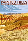 Painted Hills - John Day Fossil Beds, Oregon (12x18 Art Print, Wall Decor Travel Poster)