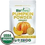 Biofinest Pumpkin Powder – 100% Pure Antioxidants Superfood – USDA Certified Organic Vegan Raw Non-GMO- Boost Digestion Immune System Weight Loss – for Smoothie Beverage (4 oz Resealable Bag)