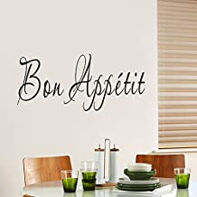 "ufengke® ""Bon Appétit"" French Quotes and Sayings Wall Decals, Living Room Bedroom Removable Wall Stickers Murals"
