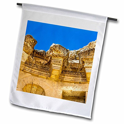 3dRose Danita Delimont - Fountains - Nymphaeum Public Fountain, Jerash, Jordan. Jerash - 18 x 27 inch Garden Flag (fl_276907_2) by 3dRose