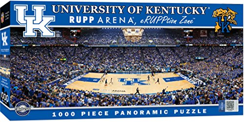 Masterpieces Collegiate Kentucky Wildcats 1000 Piece Stadium  Basketball  Panoramic Jigsaw Puzzle