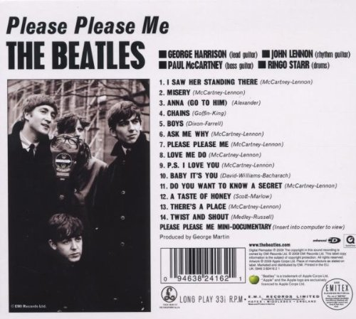 Image result for the beatles first album please,please me