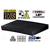 New SAMSUNG BD-J5100 (Compact 12W x 2H x 8D) Multi Zone All Region Blu Ray DVD Player - 1 HDMI, 1 Coax, 1 ETHERNET Connections + (6Feet HDMI Cable)