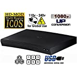 "NEW SAMSUNG BD-H5100 (Compact 12W"" x 2H"" x 8D"") Multi Zone All Region Blu Ray DVD Player - 1 HDMI, 1 COAX, 1 ETHERNET CONNECTIONS + (6Feet HDMI Cable)"