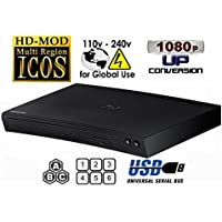 NEW SAMSUNG BD-H5100 (Compact 12W' x 2H' x 8D') Multi Zone All Region Blu Ray DVD Player - 1 HDMI, 1 COAX, 1 ETHERNET CONNECTIONS + (6Feet HDMI Cable)