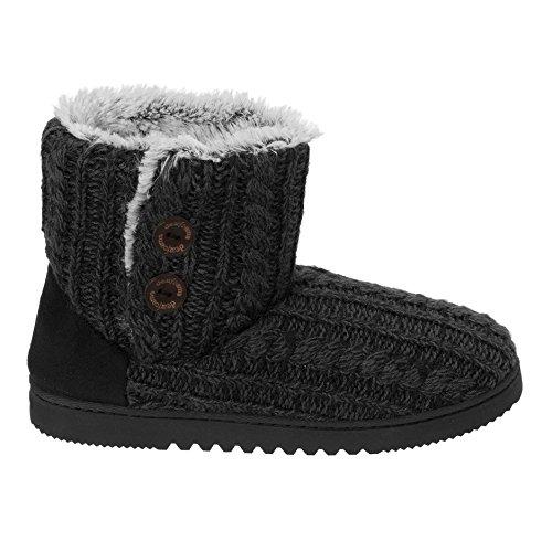 Black Outdoor Knit Slippers Bootie Dearfoams Memory Foam Sweater Women's Indoor xqqPzYvw