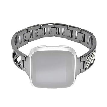 Glowjoy Pulsera Smartwatch Compatible con Fitbit Versa, Twill ...